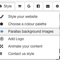 Inserting a parallax image into your website