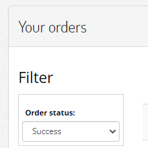 How do I manage my orders page?