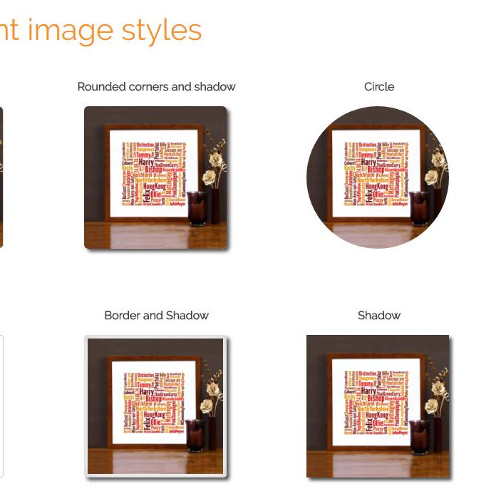 Style images with one click