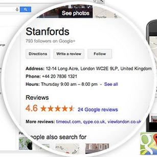 How do I get my business onto Google Maps and the special Google local results listings ?