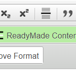 How do I modify readymade content blocks and rows?