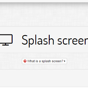 Introduction to splash pages