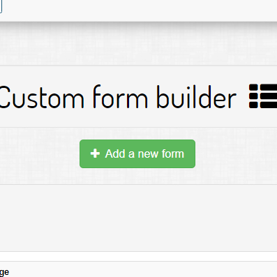 Introduction to custom forms