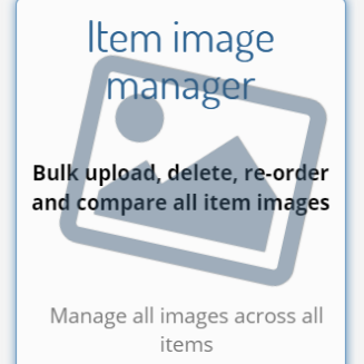 How do I manage images across all items and groups?