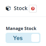 How do I manage an item's stock?