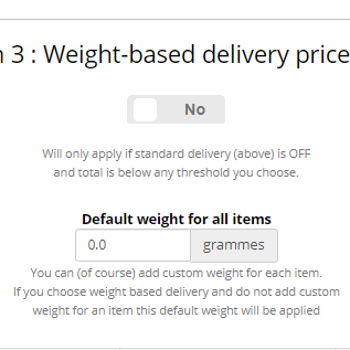 How do I create weight-based delivery bands?