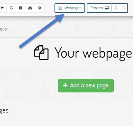 Open the existing list of webpages