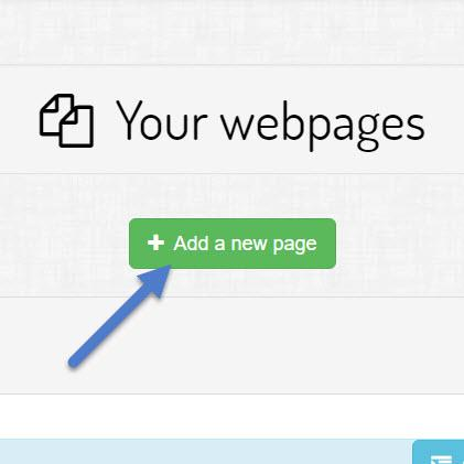 Click the add new page button and add a new page name