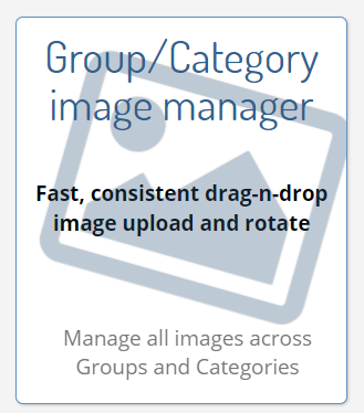 Click on 'Group/Category image manager'