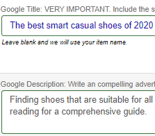 Edit your Google listing