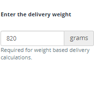 Assign a weight to an item