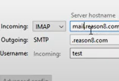 Configuring incoming mail server