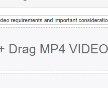Uploading MP4 video
