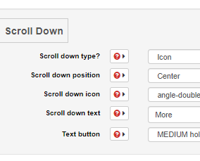 Using the 'Scroll Down' section