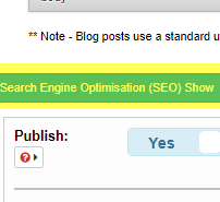 Open SEO section