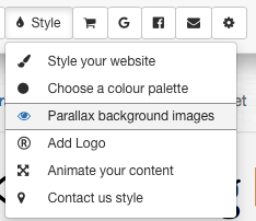 Select 'parallax background images'