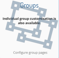 Click on 'Groups' option