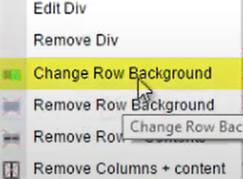 Click 'Change Row Background' option