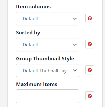 Further group styling options