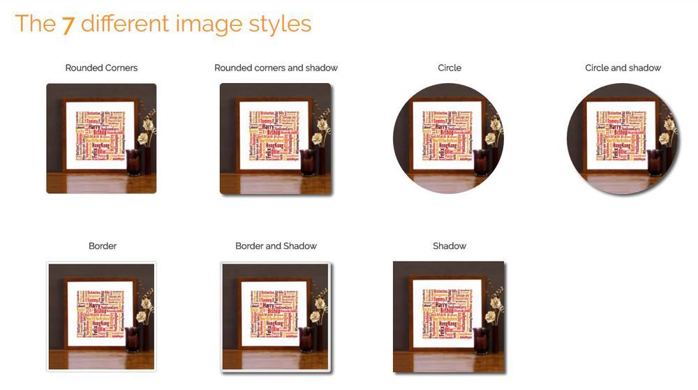 There are 7 possible image styles available