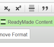 Click 'ReadyMade Content' button