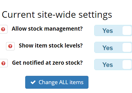 Manage site-wide settings