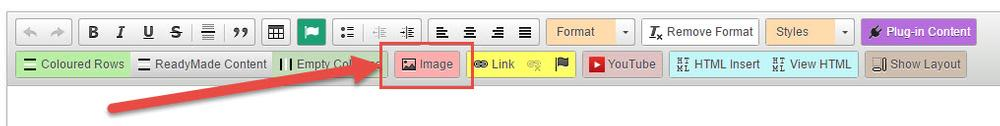 Option 2 : Upload images while you are in the content editor.