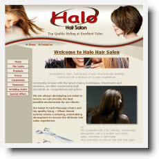 Halo Hair Salon DotGO website builder review