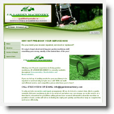 J R Garden Machinery DotGO website builder review