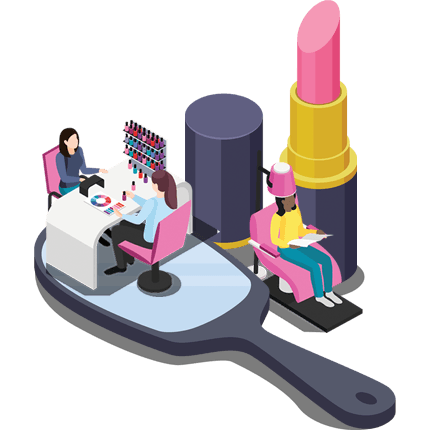 website design for Hair and beauty