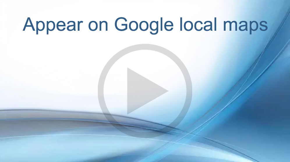 Video that explains how to build a business website to appear on Google local maps search