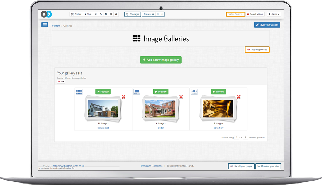 Drag and drop your images to create a beautiful gallery in seconds