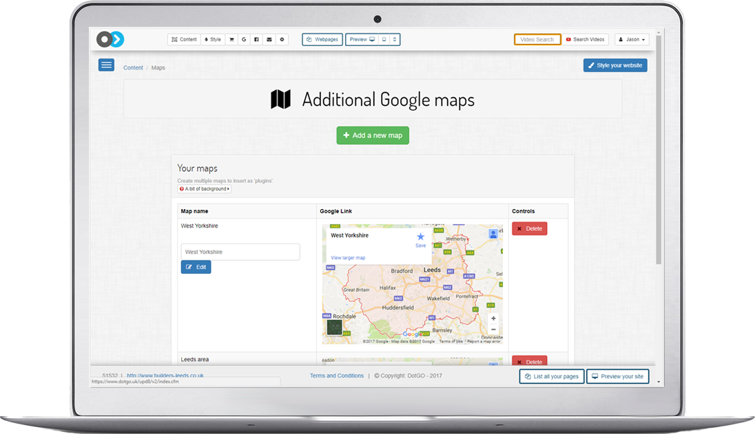 Easily create a google map