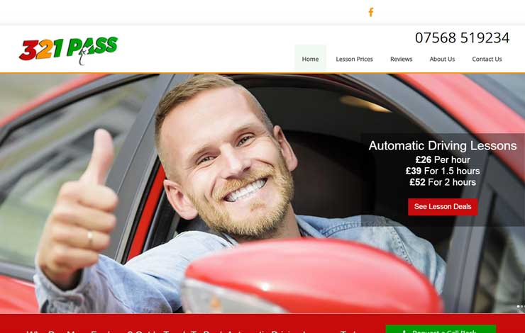 Website Design for Automatic Driving Lessons in Walsall