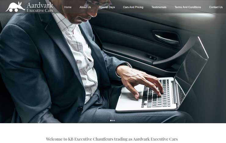 Website Design for Professional Chauffeur in Buxted | Aardvark Executive Cars