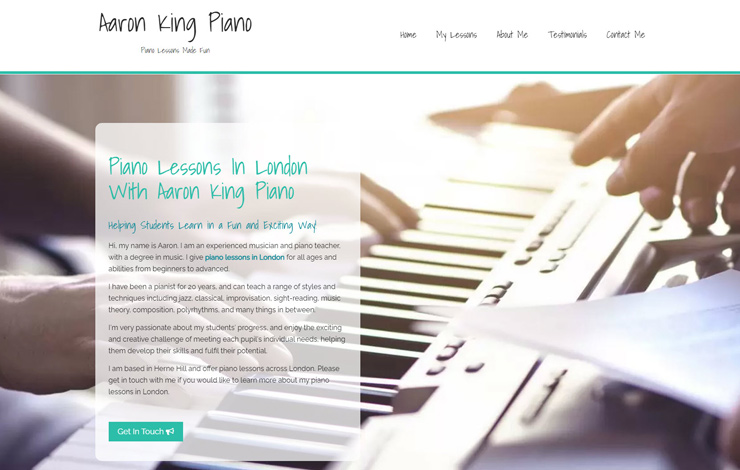 Piano Lessons In London with Aaron King Piano