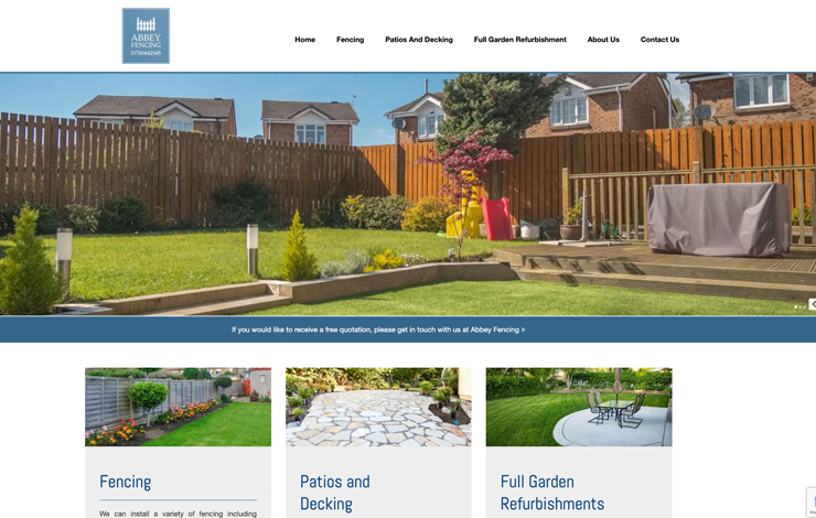 Website Design for Landscaping in Hampshire | Abbey Fencing