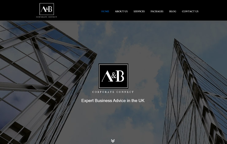 Website Design for Business Advice in UK | A&B Corporate Connect