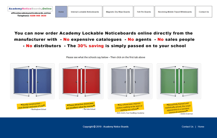 Notice boards and white boards for schools | Academy Notice Boards