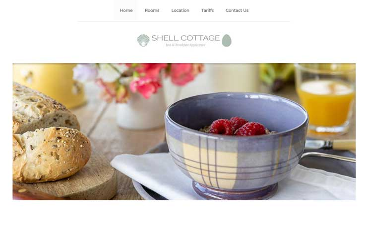 Website Design for Bed & Breakfast in Applecross