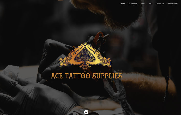 Website Design for Tattoo Equipment Supplier | Ace Tattoo Supplies