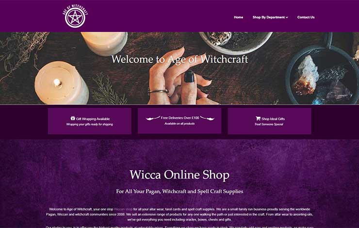 Website Design for Wiccan shop | Age of Witchcraft