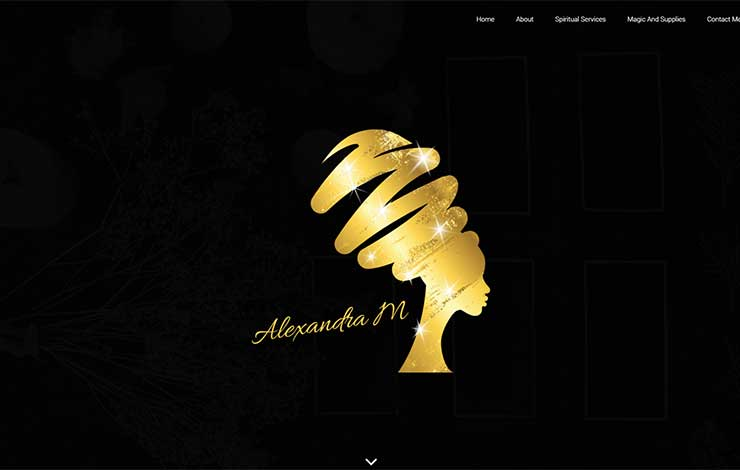 Website Design for Psychic Readings | Alexandra M