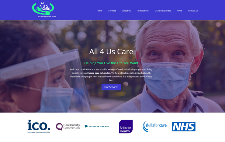 Home care London | Live the Life You Want | All 4 Us Care