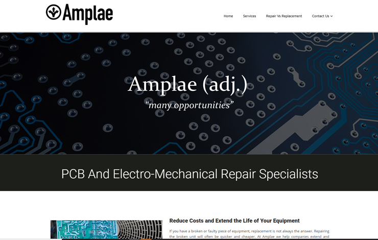 Amplae  | PCB, PSU And Electro-Mechanical Repair Specialists