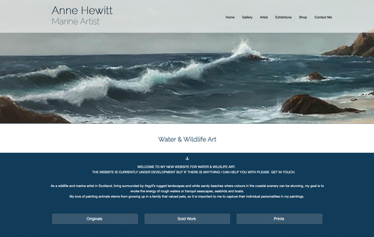 Anne Hewitt | Marine Artist in Scotland