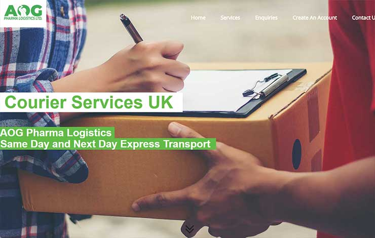 Website Design for Courier Services in UK and Europe