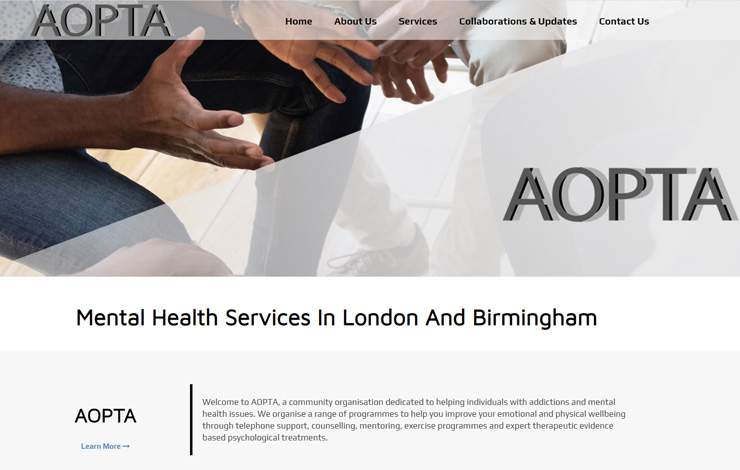 Website Design for Mental Health Services in London | AOPTA