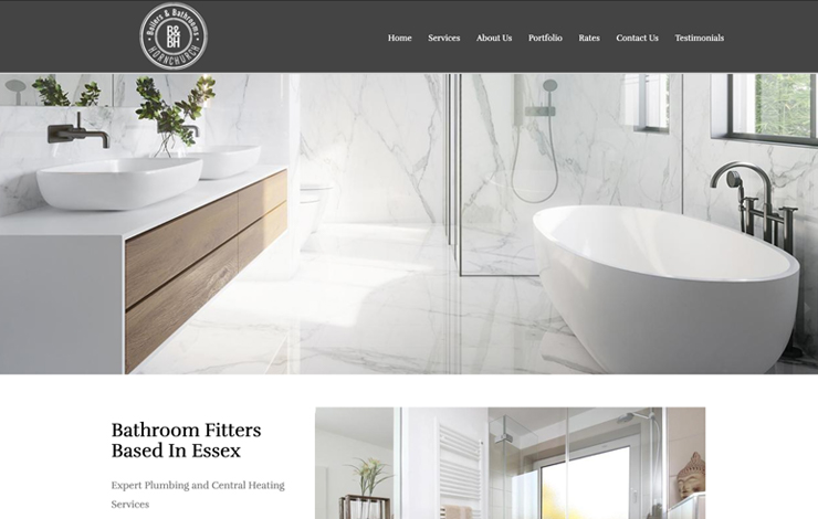 Website Design for Bathroom Fitters based in Essex | Bathrooms & Boilers