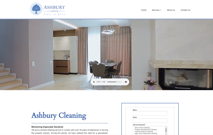 Website Design for Ashbury Cleaning Limited | Contract Cleaning Services in London